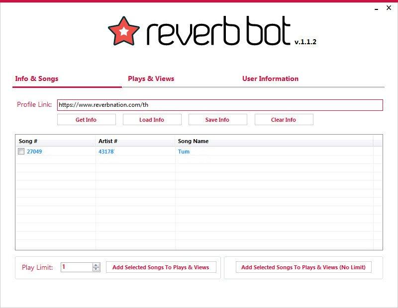 Reverb Bot Screenshot